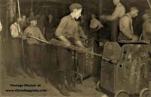 Several Young Boys in the Central Glass Co, Wheeling, W. Va