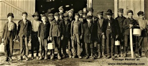 Boys Finishing Their Shift At the Monongah Glass Works, Fairmont, W. Va 1908