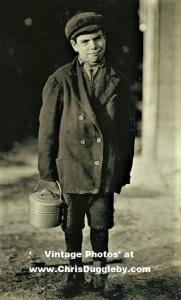 A 12 Year Old Boy Finishes His Shift at the Monongah Glass Co, Fairmont, W. Va