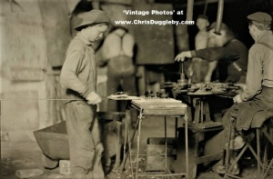 80c per Day Was Paid to 'Carrying Boy' Bill, 14 (ish) Years of Age by Conton Glass Works, Marion, Ind 1908