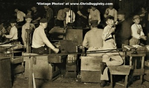 Midnight With 4 Small Boys Working At The Bridgeton Glass Works, N.J. 1909