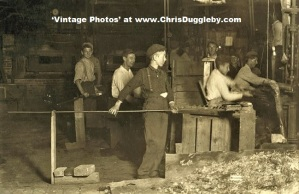 Night Shift at Cumberland Glass Works, Bridgeton, N.J. 1909