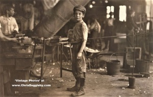 A 'Carrying In Boy' who Works Alternate Day and Night Shrifts At Alexandria Glass Factory, Va 1911