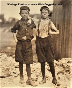 Frank Clark (left) and Ashby Corbin (right) - Two 'Carrying In Boys' who work Night Shifts 1911