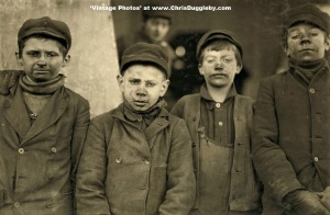 James Leonard and Stanley Rasmus Pose For a Photograph at the Pennsylvania Coal Co 1911