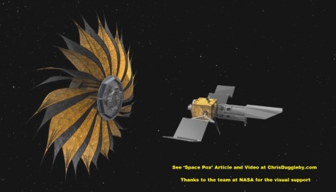 The search continues this is the proposed starshade concept flying in sync with a space telescope
