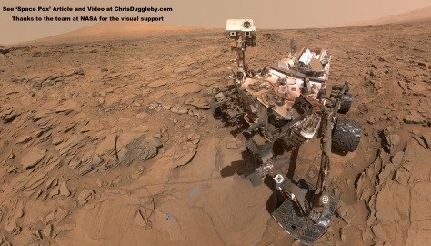Selfie on Mars by the Curiosity rover drilling for bugs