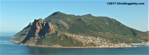 Partial view of Hout Bay, Cape Town