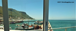 View from our table at the Harbour House restaurant in Kalk Bay