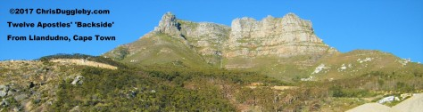 Rear View of 12 Apostles Mountain Range as seen from Llandudno near Cape Town