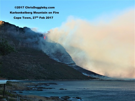 1. Bush fire on Karbonkelberg near Hout Bay and Llandudno