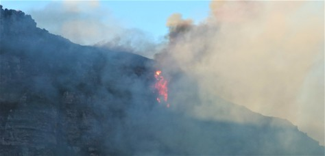 2. Bush fire 'close-up' on Karbonkelberg near Hout Bay and Llandudno