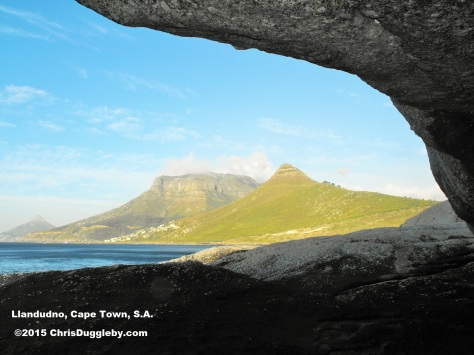 View from the caves at the base of Karbonkelberg Mountain (the Sandy Bay side)