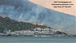 2 Delibrate Fire on Hout Bay Mountain See Photo Blog Article Sensational Images of Blazing Cape Town Mountain at ChrisDugglebydotcom
