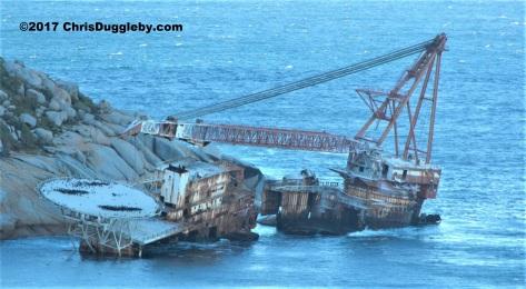 Wreck near Sandy Bay beach, Llandudno, MV Bos 400