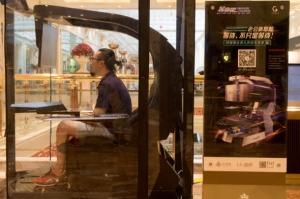 Man at Play Ladies shop Till You Drop Husband Parking Pod Article at ChrisDugglebydotcom